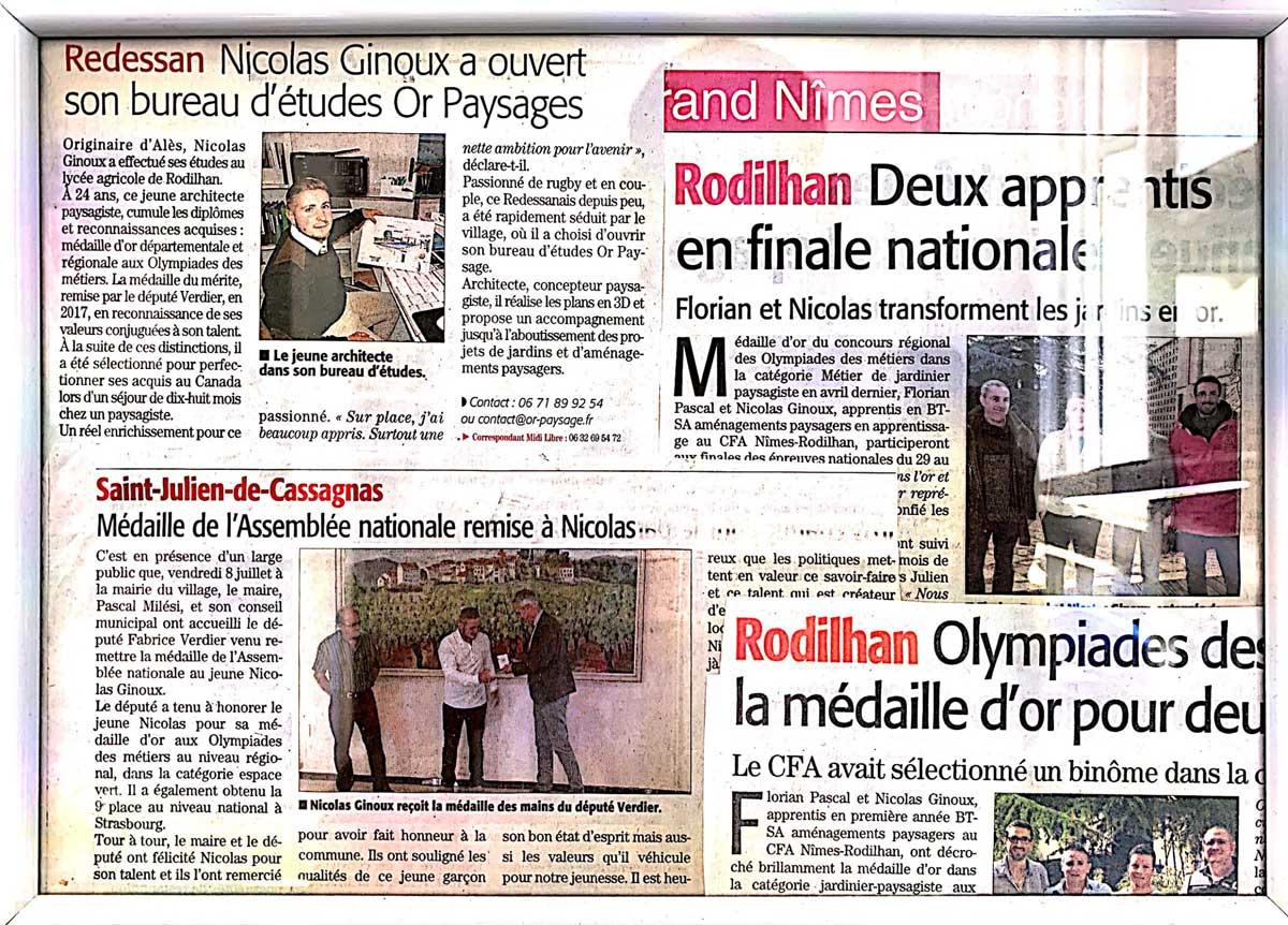 Revue de presse avec Nicolas Ginoux, gérant d'OR PAYSAGE !